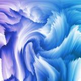Fundo ondulado abstrato em cores azuis - ilustração gerada digital ilustração stock