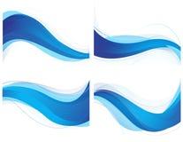 Fundo ondulado azul Fotos de Stock Royalty Free