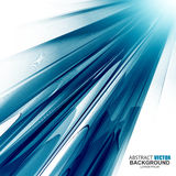 Fundo ondulado azul futurista abstrato Fotos de Stock