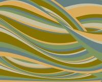 Fundo ondulado colorido retro Foto de Stock Royalty Free