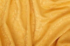 Fundo ondulado da textura da tapeçaria do damasco do ouro Imagem de Stock Royalty Free