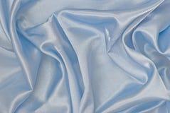 Fundo azul do cetim Fotos de Stock Royalty Free