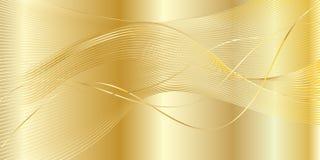 Fundo ondulado do ouro ilustração stock