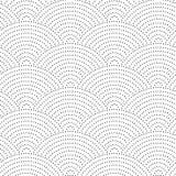 Fundo ondulado do vintage sem emenda Os pontos do preto em um fundo branco Imagem de Stock Royalty Free