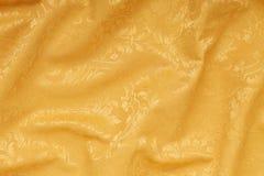 Fundo ondulado floral da textura do damasco do ouro Foto de Stock