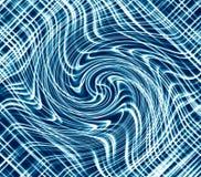 Fundo ondulado luminoso azul, linhas curvadas abstratas contexto digital fotos de stock royalty free