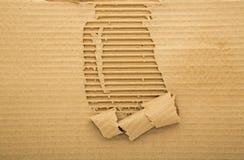 Fundo ondulado rasgado da folha do carboard Imagens de Stock