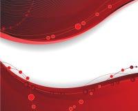 Fundo ondulado vermelho Fotografia de Stock Royalty Free