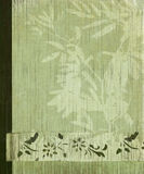 Fundo oriental da bandeira da flor da árvore e do bambu Fotografia de Stock Royalty Free