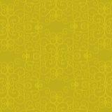 Fundo ornamentado amarelo Fotografia de Stock