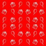 Fundo, ornamento, compra e balões, anunciando para a venda, novo, desenhos animados denominados, presentes, festivo, espertos ilustração stock