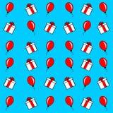 Fundo, ornamento, compra e balões, anunciando para a venda, novo, desenhos animados denominados, presentes, festivo, espertos ilustração royalty free