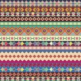 Fundo Ornamento da tira Teste padrão brilhante com os detalhes decorativos pintados à mão ilustração stock