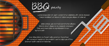 Fundo ou bandeiras do BBQ Foto de Stock Royalty Free
