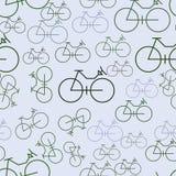 Fundo ou contexto sem emenda, esboço da mão da bicicleta tirado, bom para a textura do projeto Decoração, repetição, detalhes & a ilustração stock