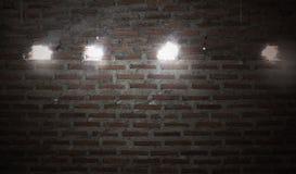 Fundo ou textura da parede de tijolo Fundo velho da parede de tijolo do vintage Imagens de Stock