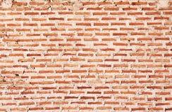 Fundo ou textura da parede de tijolo Parede de tijolo velha do vintage Fotos de Stock Royalty Free