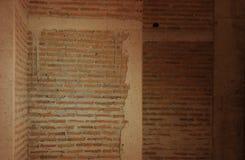 Fundo ou textura da parede de tijolo Parede de tijolo velha do vintage Foto de Stock Royalty Free
