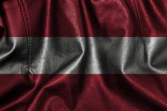 Fundo ou textura de couro com mistura da bandeira de Áustria Foto de Stock Royalty Free