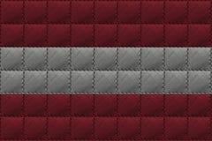 Fundo ou textura de couro com mistura da bandeira de Áustria Imagens de Stock Royalty Free