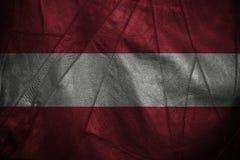 Fundo ou textura de couro com mistura da bandeira de Áustria Imagem de Stock