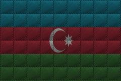 Fundo ou textura de couro com mistura da bandeira de Azerbaijão Fotos de Stock