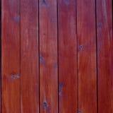 Fundo ou textura de madeira vermelha da placa Fotografia de Stock Royalty Free