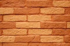 Fundo ou textura pintada da parede de tijolo da terracota Fotos de Stock