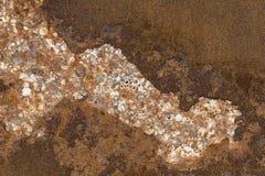 Fundo oxidado da superfície de metal Foto de Stock Royalty Free
