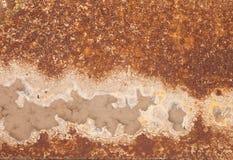 Fundo oxidado das manchas do ferro e da corrosão fotografia de stock