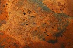 Fundo oxidado e velho com área vazia para o texto do apoio dano ou superfície da antiguidade da oficina da indústria corrosão do  foto de stock