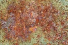 Fundo oxidado e velho com área vazia para o texto do apoio dano ou superfície da antiguidade da oficina da indústria corrosão do  imagens de stock royalty free