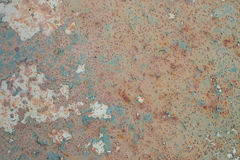 Fundo oxidado e velho com área vazia para o texto do apoio dano ou superfície da antiguidade da oficina da indústria corrosão do  foto de stock royalty free
