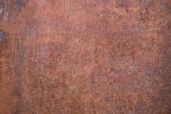Fundo oxidado gasto da textura do metal do marrom escuro imagem de stock