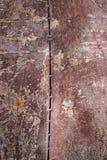 Fundo oxidado gasto da textura do metal do marrom escuro Foto de Stock