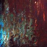 Fundo oxidado metálico com a pintura velha gasto e riscada com corrosão fotos de stock royalty free
