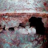Fundo oxidado metálico com a pintura velha gasto e riscada com corrosão fotos de stock