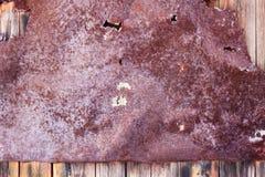 Fundo oxidado metálico com a pintura velha gasto e riscada com corrosão foto de stock