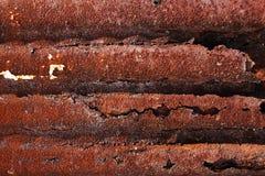 Fundo oxidado metálico com a pintura velha gasto e riscada com corrosão imagens de stock