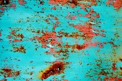 Fundo oxidado metálico com a pintura velha gasto e riscada com corrosão imagem de stock royalty free