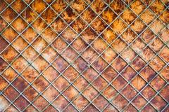 Fundo oxidado velho da cerca fotografia de stock royalty free