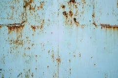 Fundo oxidado vestido escuro da textura do metal Imagem de Stock