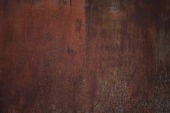Fundo oxidado vestido escuro velho da textura do metal imagem de stock