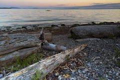 Fundo pacífico do céu da paisagem do oceano do beira-mar Fotos de Stock Royalty Free