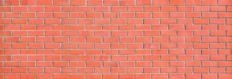 Fundo panorâmico do panorama da parede de tijolo vermelho grande Fotografia de Stock Royalty Free