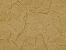 Fundo, papel de envolvimento, textura, marrom, enrugamento Fotografia de Stock Royalty Free
