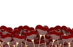 Fundo para as felicitações dos amantes Fotos de Stock Royalty Free