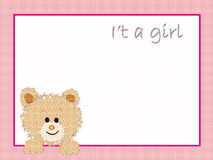 Fundo para a fêmea recém-nascida ilustração royalty free