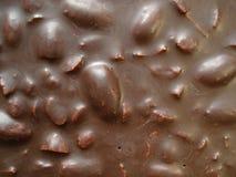 Fundo para a inscrição, vista superior do chocolate Chocolate com amêndoas Imagens de Stock