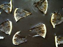 Fundo para a inscrição, vista superior do chocolate Chocolate com limão Fotos de Stock Royalty Free